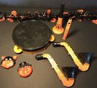VTG Halloween Plastic Noise Maker Lot of 7 Tambourine Sax Horn Whistle Clickers