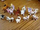 LOT OF COW CREAMERS SALT AND PEPPER TOOTHPICK HLDRS FARM ANIMALS FIGURINE