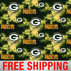 Fleece Fabric Green Bay Packers NFL Anti Pill 60 Wide Free Shipping GRE 6349