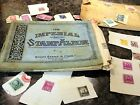 VINTAGE 1928 SCOTT IMPERIAL STAMP ALBUM WITH 66 OLD STAMPS VARIED COUNTRIES