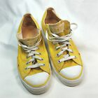 Converse All Star Low Canvas Yellow Sneakers Unisex Mens 8 Womens 10 7D040101