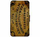 Ouija Board Goth Emo Metal Leather Flip Phone Case Cover for iPhone