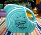 Fiesta Turquoise 60th Anniversary Dancing Lady Mini Disc Pitcher ~
