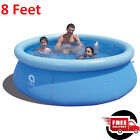 Inflatable Swimming Pool 8 Feet Above Ground Water Fun Family Adult kid