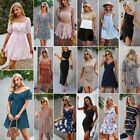 Women Summer Boho Short Maxi Dress Evening Cocktail Party Beach Dresses Sundress