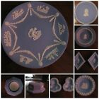9 piece collection - Vintage Wedgewood Blue Jasperware