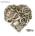 Skull  Rose Heart Compact Mirror SexyRomantic GiftNewAlchemy Gothic 1977