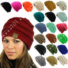 Hot item CC Beanie New Womens Knit Slouchy Thick Cap Hat Unisex Solid Color