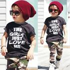 2pcs Toddler Infant Kids Baby Boys Summer Clothes T shirt Tops+Pants Outfits Set