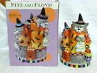 Fitz and Floyd Halloween Kitty Witches Musical Cackle & Laugh Figurine