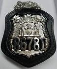NY NJ Police Style Officer Badge Cut Out Neck Hanger w Chain Badge Not Included