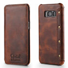 For Samsung Galaxy S8 S8+ Plus Genuine Leather Wallet Case Card Flip Cover Retro