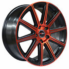 4 GWG WHEELS 22 inch Red MOD Rims fits PROSCHE MACAN TURBO 2015 - 2017