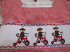 SHRIMP  GRITS BOYS SIZE 18 MTMONKEY ON TRIKE SMOCKED ROMPERLK