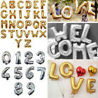16 40Gold Silver Foil Letter Number Balloons Birthday Wedding Party Decoration