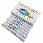 12 PCS White Permanent Motor Cylce Car Truck Tire Tyre Metal Paint Marker Pens