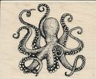 Octopus Rubber Stamp by Stampabilities