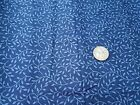 COTTON FABRIC IN THE BEGINNING COLLECTION BLUE LEAVES ON BLUE NORTHCOTT BTY