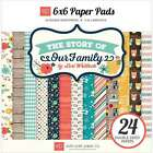 Echo Park Double Sided Paper Pad 6X6 24 Pkg The Story Of Our Fam 696859918384