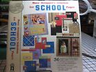 Busy Scrappers Solution SCHOOL pgs 12x12 complete kitpaper tags letters