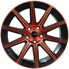 4 GWG WHEELS 18 inch Red MOD Rims fits ET40 NISSAN ALTIMA COUPE 2008 2009