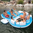 Inflatable Floating Island 6 Person Oasis Lounge Pool Lake Party Water Raft