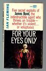 FOR YOUR EYES ONLY Ian Fleming James Bond Pb Stated 1st Printing 1961 GGA