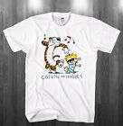 Calvin and Hobbes T-shirt white Shirts Adult Kids sizes