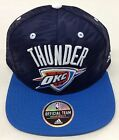 NBA Oklahoma City Thunder Adidas Textured Snap Back Cap Hat Beanie Style #NR92Z