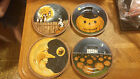 4 Sakura David Carter Brown PUMPKIN HOLLOW Halloween Salad Dessert Plates