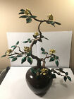 BEAUTIFUL Vintage BOVANO Copper Bonsai Tree Enamel Painted Potted Plant