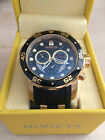 Mens Invicta Pro Diver Scuba Swiss Chronograph Watch 18 K Gold Plating Large