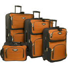 Travelers Choice Amsterdam 4 Piece Luggage Set 4 Colors