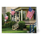 24 Patriotic Note Cards Hometown Pride Red Envs