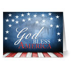 24 Patriotic Note Cards God Bless America Red Envs