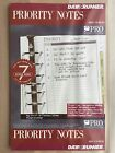 Day Runner Priority Notes 7 Ring Binder Refill 88194 55 x 85 Inches