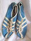 VINTAGE 1970s ADIDAS AVANTI LEATHER TRACK SHOES SPIKES BLUE WHITE 105 FRANCE