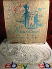 Vintage Federal Glass Co. Homestead Snack Set 8pc With Original Box
