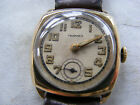 VERY RARE TAVANNES SOLID GOLD A.R.P. PRESENTATION GENTS CUSHION WATCH c1941
