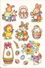American Greetings Easter Bunny Rabbit Chick Flower Egg Stickers Sheet