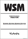 Kubota B2050 B2350 B2650 B3150 Tractor Workshop Manual (B410)