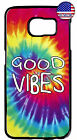 Hippie Tie Dye Good Vibes Hipster Rubber Case Cover Samsung Galaxy Note 8 5 4