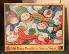 RARE~NEW~SUSAN WINGET~SNOWMEN FALL FROM HEAVEN ONE PIECE AT A TIME~500 PC PUZZLE