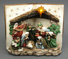 Nativity Scene Book LED Lighted Statue Sculpture Table Figurine 95x8x5