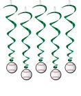 Baseball Hanging Swirls Set Of 5 Birthday Party Decorations