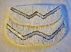 SILVER GLASS BEADED COIN PURSE 1920'S TRUE VINTAGE
