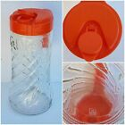VTG 1QT TANG BRAND GLASS PITCHER WITH LID