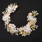 Wedding Bridal Vintage Rose Flower Crystal Tiara Pearl Headpiece Hair Piece