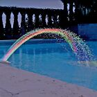 Colorfoul Pool Accessory Lights Show Waterfall Fountain Above Ground w LED Light
