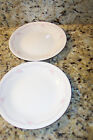 CORELLE BEIGE/SANDSTONE ENGLISH BREAKFAST BREAD BUTTER SM SALAD PLATES SET OF 2